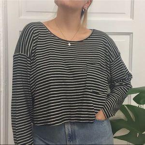 AA Striped Crop Sweater